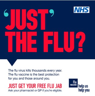 NHS 'Just' the flu? poster
