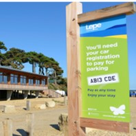 car park sign at Lepe Country Park