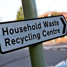sign for recycling centre