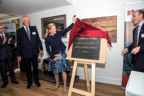 HRH The Countess of Wessex opening Centenary Lodge