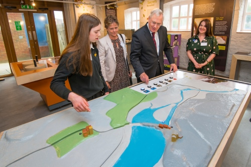 HRH The Duke of Gloucester opening the Eling Tide Mill Experience