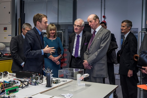 HRH The Duke of Kent visiting The University of Southampton, Faculty of Engineering and the Environment