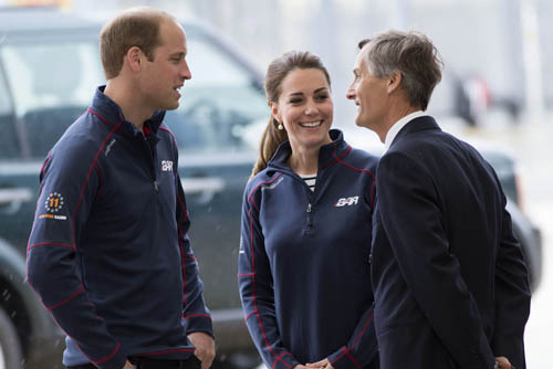 TRHs The Duke and Duchess of Cambridge at the America's Cup weekend, Portsmouth