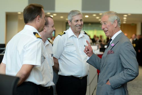 HRH The Prince of Wales opening the National Maritime Operations Centre, Fareham