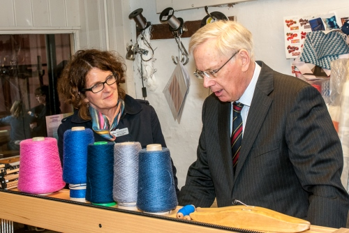 HRH The Duke of Gloucester visiting Whitchurch Silk Mill