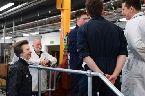 HRH The Princess Royal launching Warsash School of Maritime and Engineering