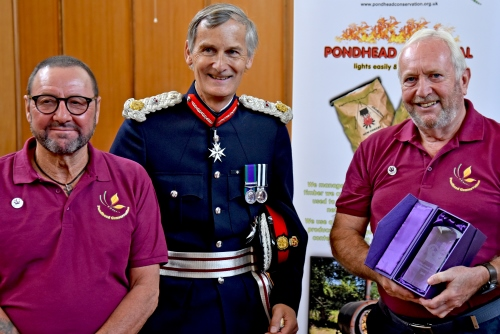 Pondhead Conservation Trust receiving the Queen's Award for Voluntary Service