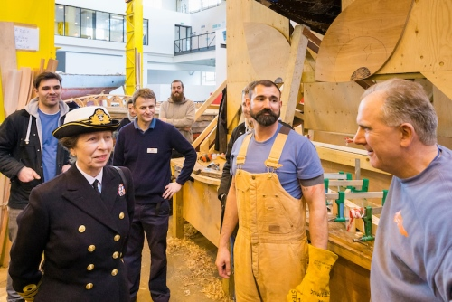 HRH The Princess Royal visiting Boathouse 4, Portsmouth