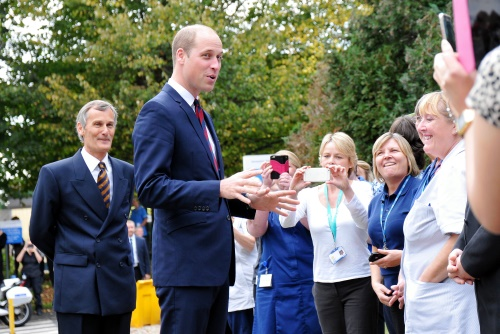 HRH The Duke of Cambridge visiting The Step into Health programme at Basingstoke Hospital