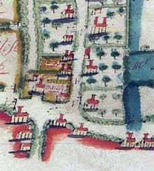 Extract - Upton Grey estate map 1741 Finding No. 130A05/1