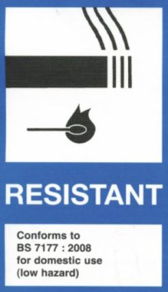 Resistant label for furniture