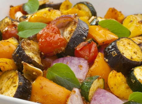 Grilled veg - our food