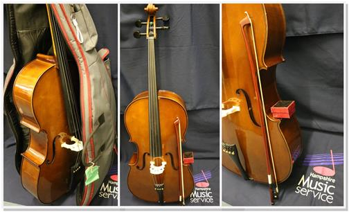Cellos collage image