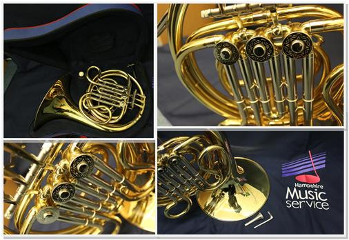 French Horn collage image