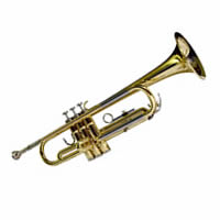 Trumpet white background