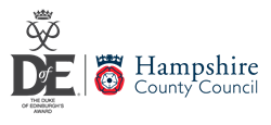 The Duke of Edinburgh's Award logo and Hampshire County Council logo