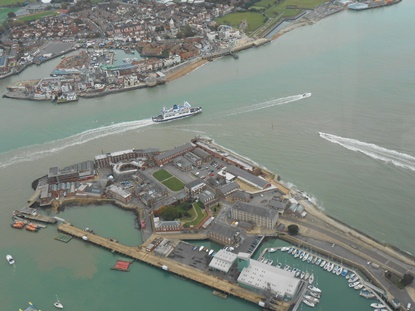 Portsmouth Harbour aerial  415