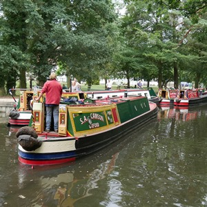 Narrowboats at Basingstoke Canal