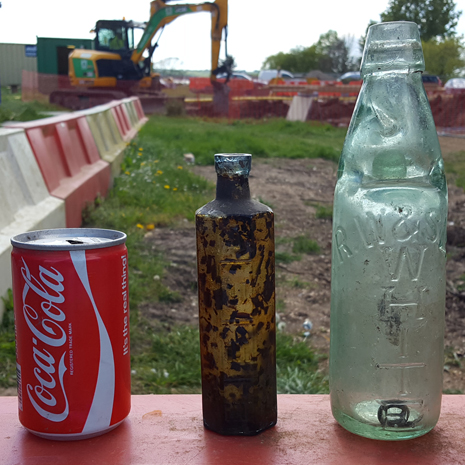 Old bottles and cans found at RVCP