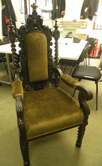 Queen Victoria's chair - Netley Hospital inauguration