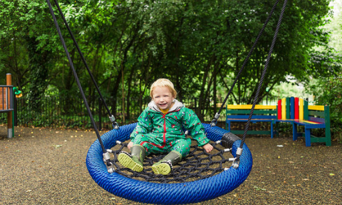 Child in a play area