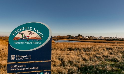 Entrance sign at Titchfield Haven
