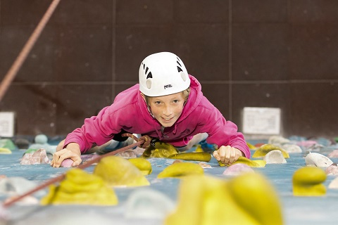 child climbing indoors