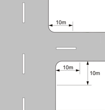 Distance thresholds for dropped kerb