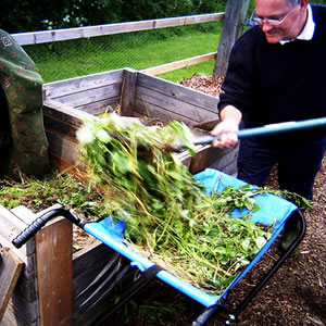 Making your own bin or compost heap