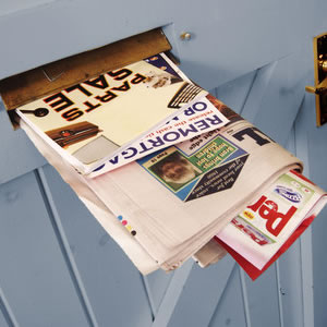 Junk mail through letter box