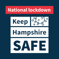 Keep Hampshire Safe national lockdown graphic
