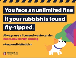 County Council reinforces commitment to tackle fly-tipping