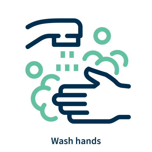 Wash hands logo