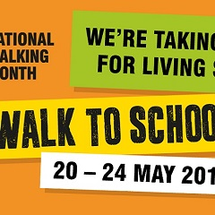 walk to school week logo