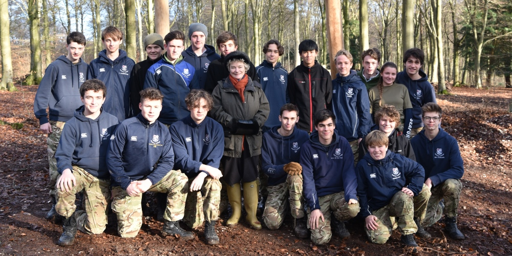 Seaford College at Queen Elizabeth Country Park assault course