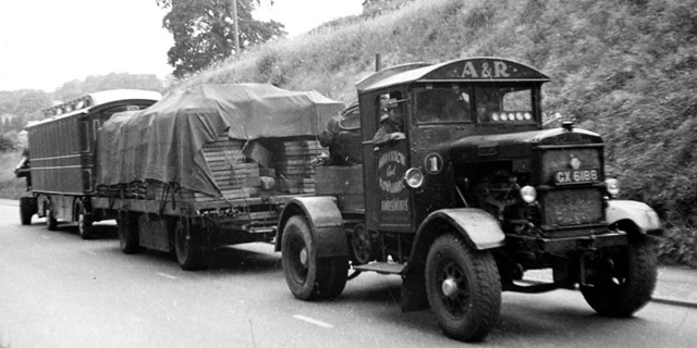 Anderton and Rowlands' Scammell truck No. 1 The Lion, 1952