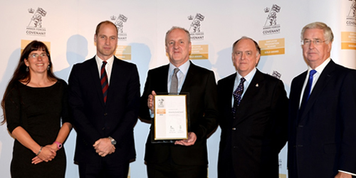 Duke of Cambridge presents Gold Award to Hampshire County Council for Armed Forces support