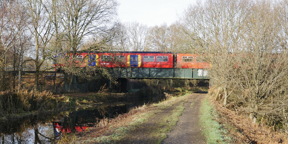 Railway  Bridge - Ash Embankment West