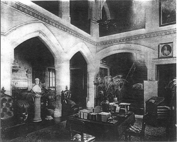 Interior of Leigh Park Mansion House during Fitzwygram residency