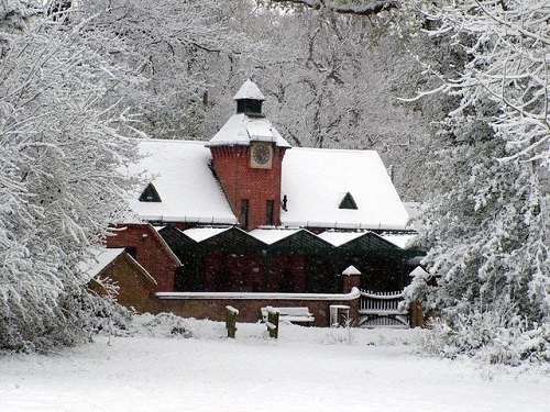 Staunton - coach house in the snow