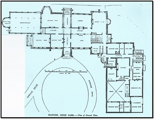 Staunton - Leigh Park - Mansion map