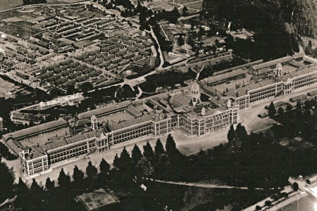 Historic aerial photograph of Royal Victoria Hospital