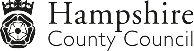 Black and White Logo Hampshire County Council
