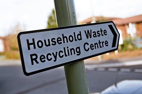 Household Waste Recyling Centre sign