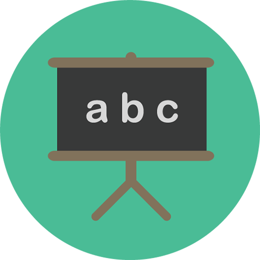 Icon of A, B, C on a blackboard