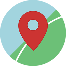 Icon of a pin on a map
