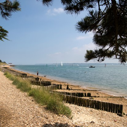 beach at Lepe Country Park